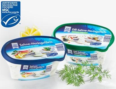 Almare Seafood, Sahne-Heringsfilets, 400g