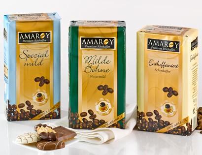 Amaroy, Röstkaffee Gemahlen, Milde Bohne, 500g