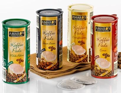 Amaroy, Kaffee-Pads, Milde Bohne, 144g