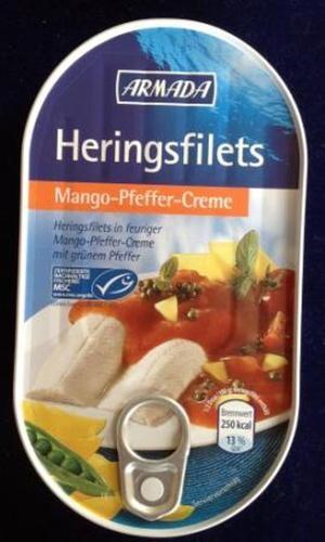 Armada, sleďové filety Mango Pfeffer-Creme,120g