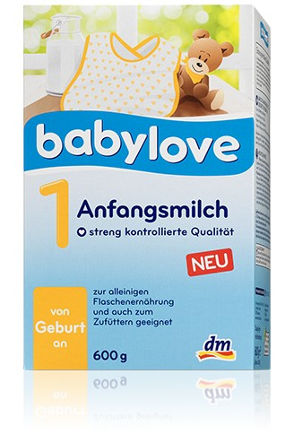 Babylove Anfangsmilch 1,600g