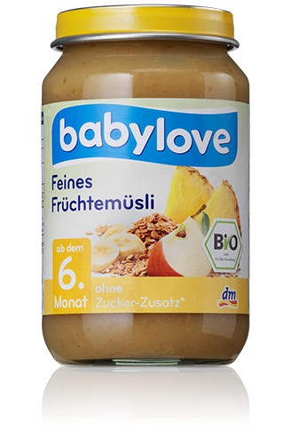 Babylove Feines Früchtemüsli, 190g