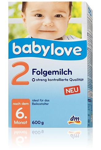 Babylove Folgemilch 2,600g
