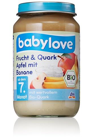 Babylove Frucht & Quark, Apfel mit Banane, 190g