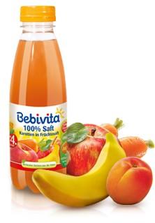 Bebivita 100% Saft, Karotten in Früchtesaft, 500ml