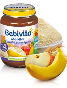Bebivita Abendbrei Grieß-Banane-Apfel,190g
