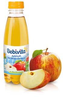 Bebivita Apfelsaft mit Mineralwasser, 500ml