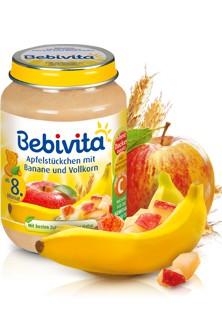 Bebivita Apfelstückchen mit Banane und Vollkorn,190g