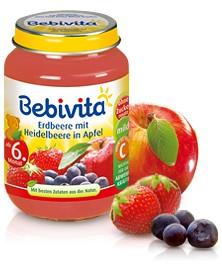 Bebivita Erdbeere mit Heidelbeere in Apfel,250g