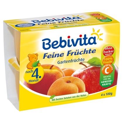 Bebivita Feine Früchte, Gartenfrüchte, 4x100g