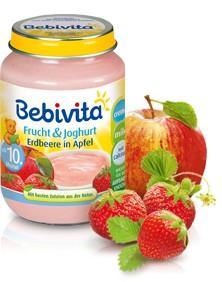 Bebivita Frucht&Joghurt Erdbeere in Apfel,190g