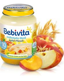 Bebivita Frühstücks-Müsli Apfel-Pfirsich,160g