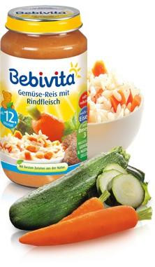 Bebivita Gemüse-Reis mit Rindfleisch,250g