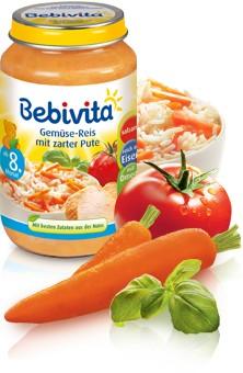 Bebivita Gemüse-Reis mit zarter Pute,220g
