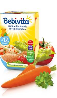Bebivita Gemüse-Risotto mit zartem Hühnchen,2x250g