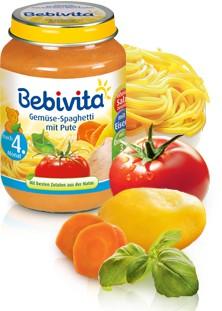 Bebivita Gemüse-Spaghetti mit Pute,190g