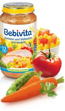 Bebivita Gemüse und Hühnchen mit Nudeln,250g