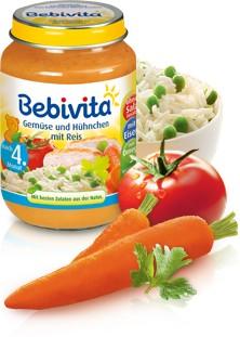 Bebivita Gemüse und Hühnchen mit Reis,190g