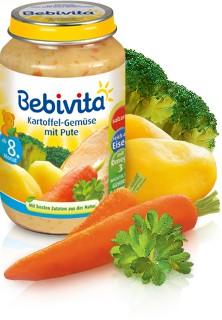 Bebivita Kartoffel-Gemüse mit Pute,220g