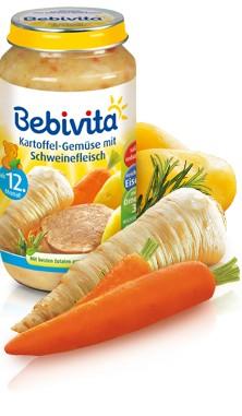 Bebivita Kartoffel-Gemüse mit Schweinefleisch,250g