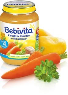 Bebivita Kartoffeln, Karotten und Rindfleisch,190g