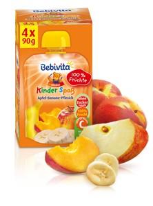 Bebivita Kinder Spass, Apfel-Banane-Pfirsich, 90g