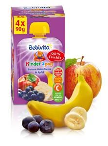 Bebivita Kinder Spass, Banane-Heidelbeere in Apfel, 90g