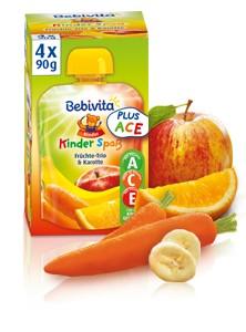 Bebivita Kinder Spass, Früchte-Trio & Karotte, 90g