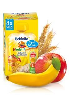 Bebivita Kinder Spass, Vollkorn in Apfel-Banane, 90g