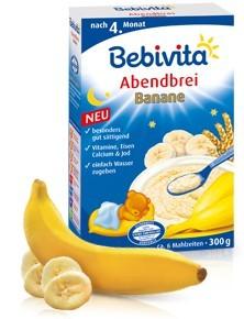 Bebivita mléčná kaše banán 300g