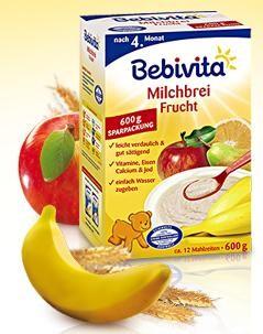 Bebivita mléčná kaše ovocná 600g