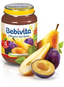 Bebivita Pflaume mit Birne,190g