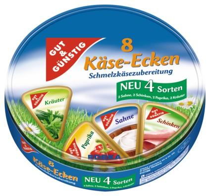 Käse Ecken Mix Box, 8ks, 250g