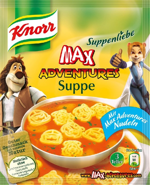 Knorr, Max Adventures Suppe,3 porce