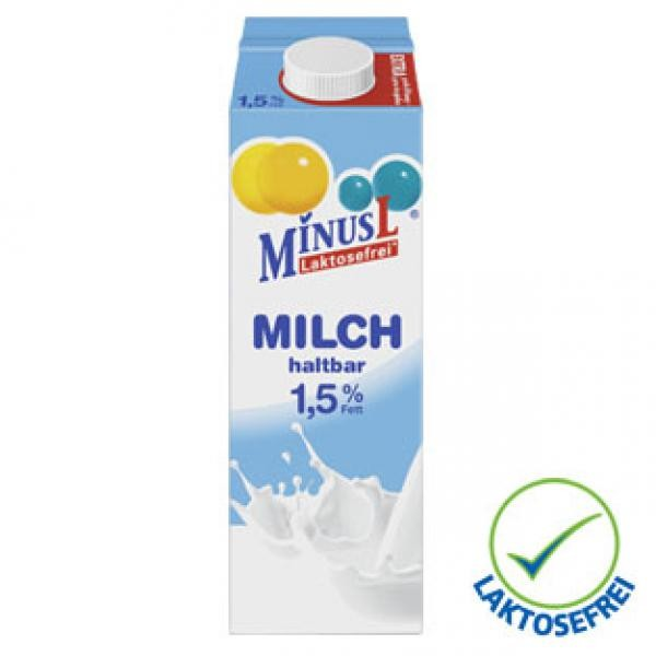 MinusL, Mléko 1.5%, 1L