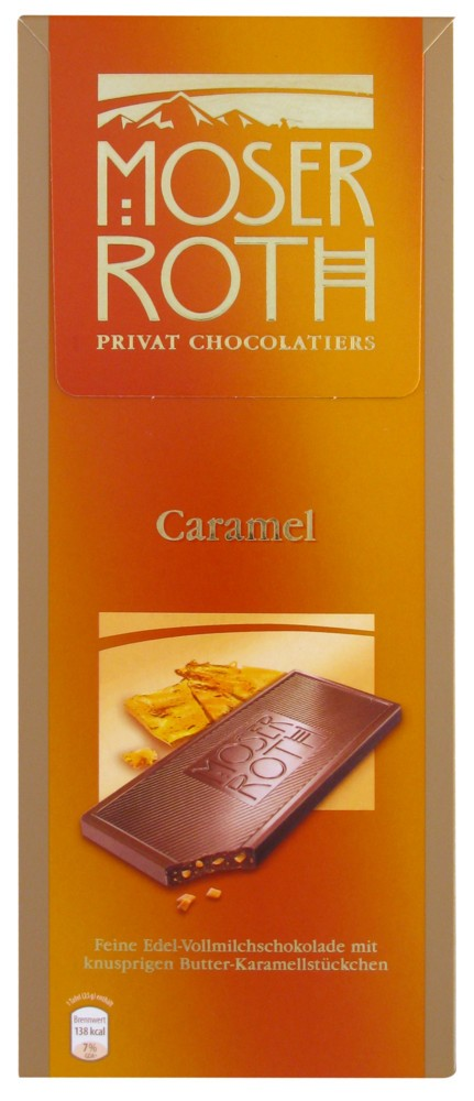 Moser Roth, Caramel, Edel Vollmilch,125g