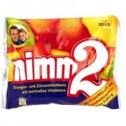 Nimm2,ovocné bonbony pomeranč/citron,345g